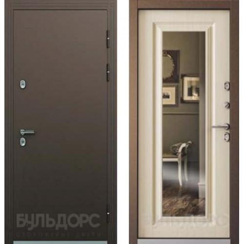 Дверь Бульдорс Термо Медь/Белый перламутр, рис. ТВ-8.2 (зеркало)