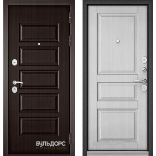 Входная дверь - Бульдорс MASS-90 (РР Ларче шоколад 9S-108/ Ларче белый 9SD2 )