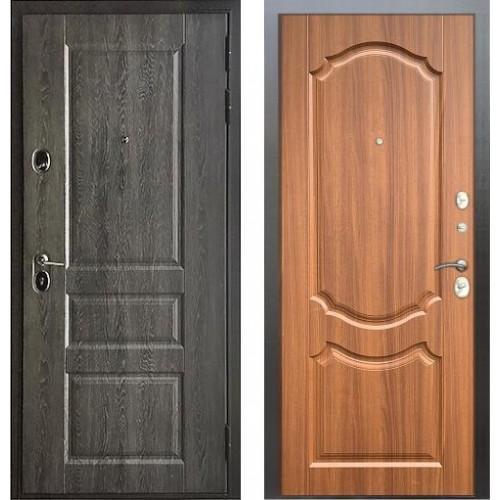 Входная дверь - Бульдорс STANDART - 90 (РР Дуб графит 9SD-2/Орех лесной 9SD-4)