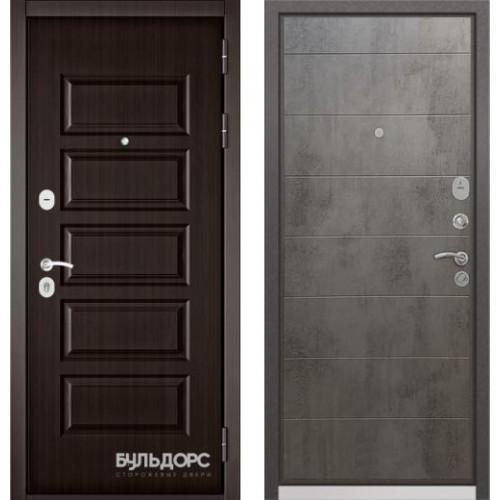 Входная дверь - Бульдорс MASS-90( РР Ларче шоколад 9S-108/Бетон темный 9S-135 )