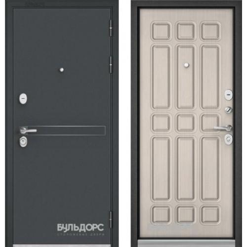 """Входная дверь - Бульдорс STANDART 90 Чёрный шелк D-4, Цвет """"Ларче бьянко"""""""