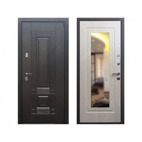 Входная дверь REX 9 Беленый дуб Зеркало