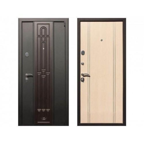 Входная дверь REX Комби Беленый дуб