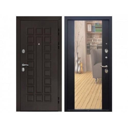 Входная дверь Rex Сенатор СБ-16 с зеркалом Венге / Венге