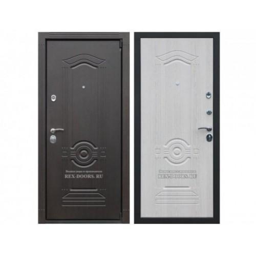 Входная дверь REX Гранд Венге / Дуб беленый