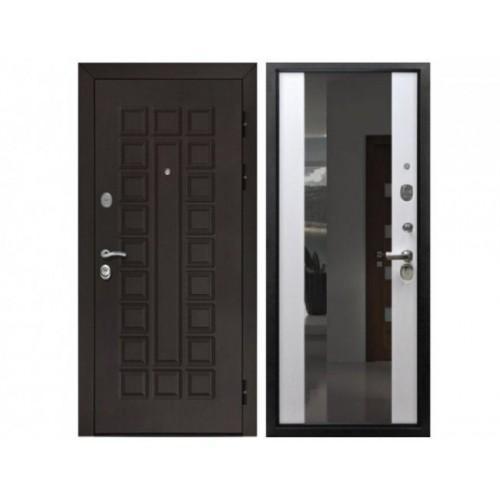 Входная дверь REX Сенатор 2к с зеркалом Венге / Лиственница белая