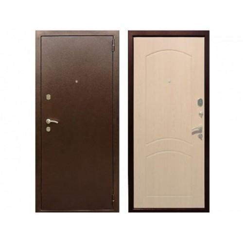 Входная дверь REX 1A Беленый дуб