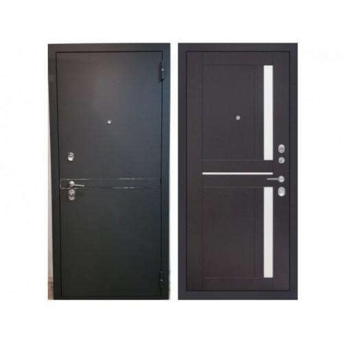 Входная дверь Rex Лайн СБ-18 Орех темный