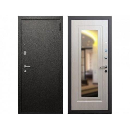 Входная дверь REX 2A Зеркало Беленый дуб
