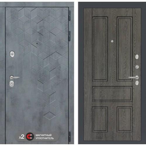 Входная дверь Бетон 10 - Дуб филадельфия графит