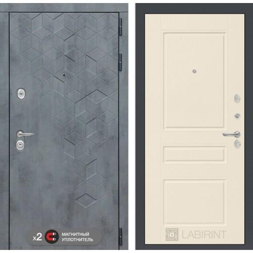 Входная дверь Бетон 03 - Крем софт