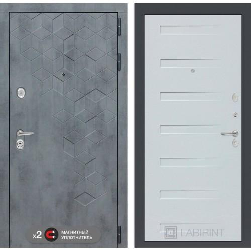 Входная дверь Бетон 14 - Дуб кантри белый горизонтальный