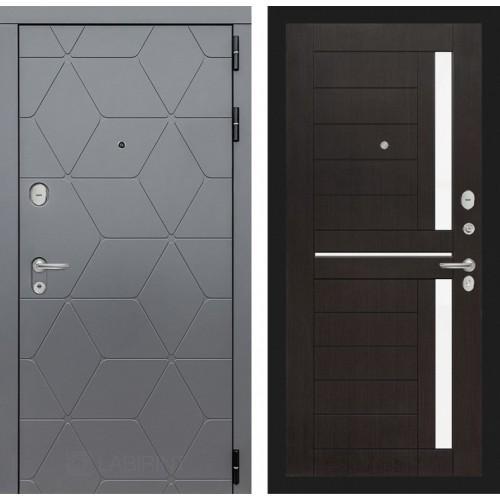 Входная дверь COSMO 02 - Венге, стекло белое