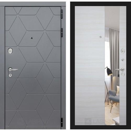 Входная дверь COSMO зеркало - Акация светлая горизонтальная