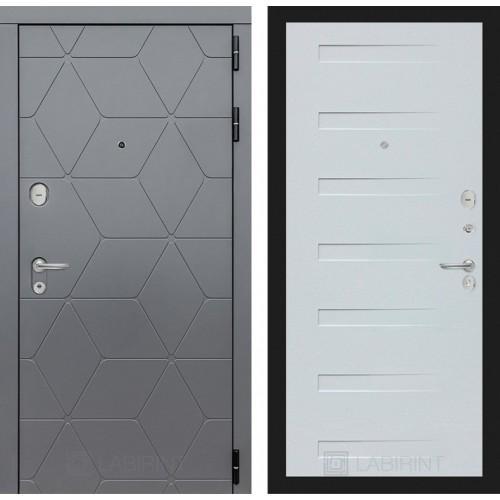 Входная дверь COSMO 14 - Дуб кантри белый горизонтальный