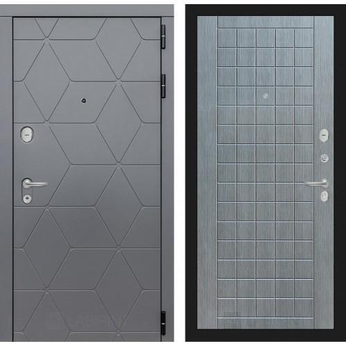 Входная дверь COSMO 09 - Лен сильвер грей