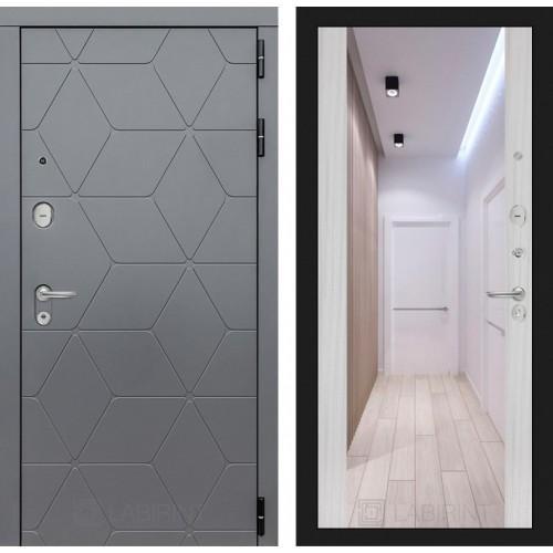 Входная дверь COSMO с зеркалом Максимум - Сандал белый