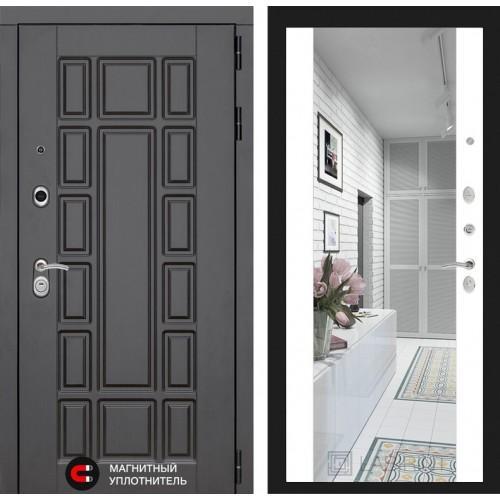Входная дверь NEW YORK с Зеркалом Максимум - Бетон светлый