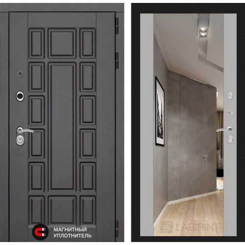 Входная дверь NEW YORK с Зеркалом Максимум - Софт Грей