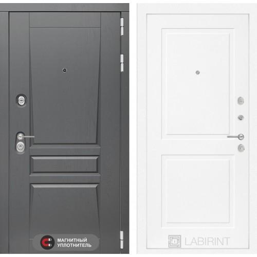 Входная дверь Платинум 11 - Белый софт