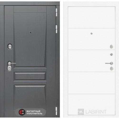 Входная дверь Платинум 13 - Белый софт