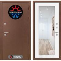 Входная дверь Термо Магнит с Зеркалом 18 - Белое дерево