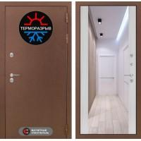Входная дверь Термо Магнит с Зеркалом Максимум - Сандал белый
