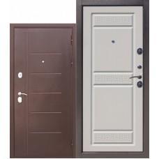 Входная дверь - Троя медный антик Белый ясень 10см