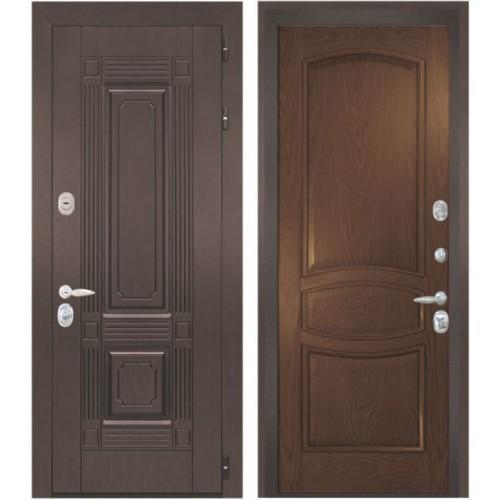 Входная дверь - Интекрон Италия-1 шпон дуб бургундский