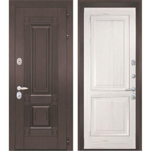 Входная дверь - Интекрон Италия-1 шпон ясень жемчуг