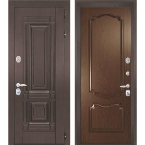 Входная дверь - Интекрон Италия-2 шпон дуб бургундский