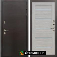 Входная дверь - Лекс Термо Сибирь 3К Клеопатра-2 Ясень кремовый (панель №66)