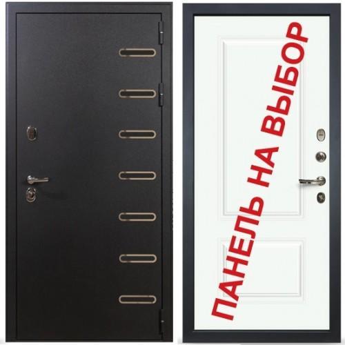 Входная дверь - Лекс Витязь Вероника-1 Шпон Эмаль Белая (панель №55)