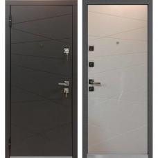 Входная дверь - Mastino Monte Графит софт/Белый софт