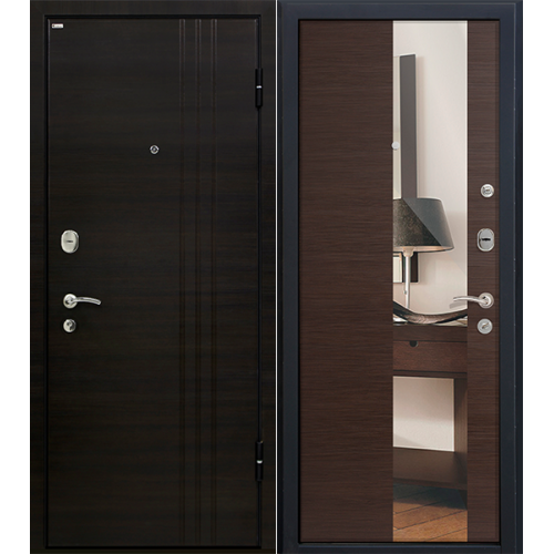 Входная дверь - Входная дверь МеталЮр М15 (венге кроскут)