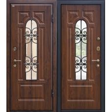 Входная дверь МеталЮр М30 (темный орех)