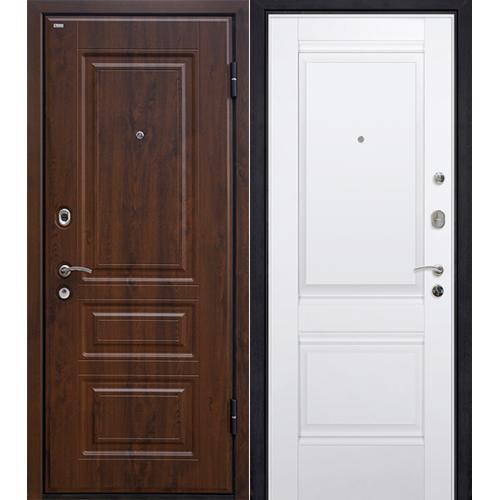 Входная дверь МеталЮр М9 темный орех