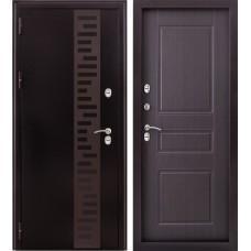 Входная дверь - Урал МП с декором терморазрыв венге