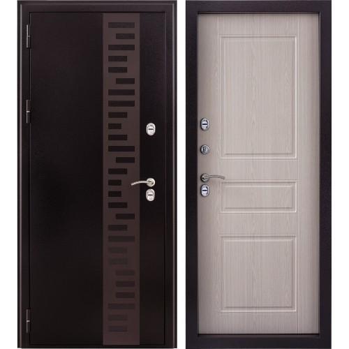 Входная дверь - Урал с отделкой панель беленый дуб