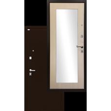 Входная дверь - Ратибор Люкс Зеркало Экодуб